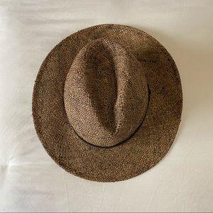 H&M brown weaved hat Large